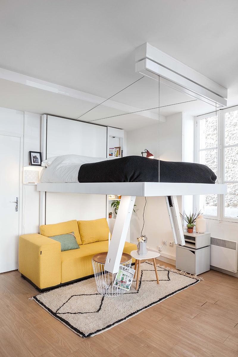 Lit Mezzanine 3 Ans lit suspendu vision : design et gain de place - bedup®