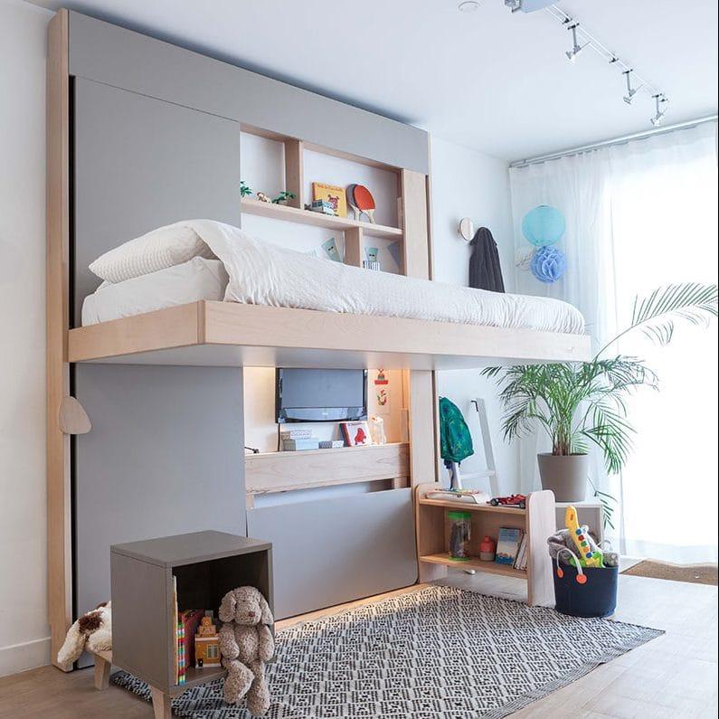 bedup campus un lit mezzanine escamotable pour chambre d 39 enfant. Black Bedroom Furniture Sets. Home Design Ideas
