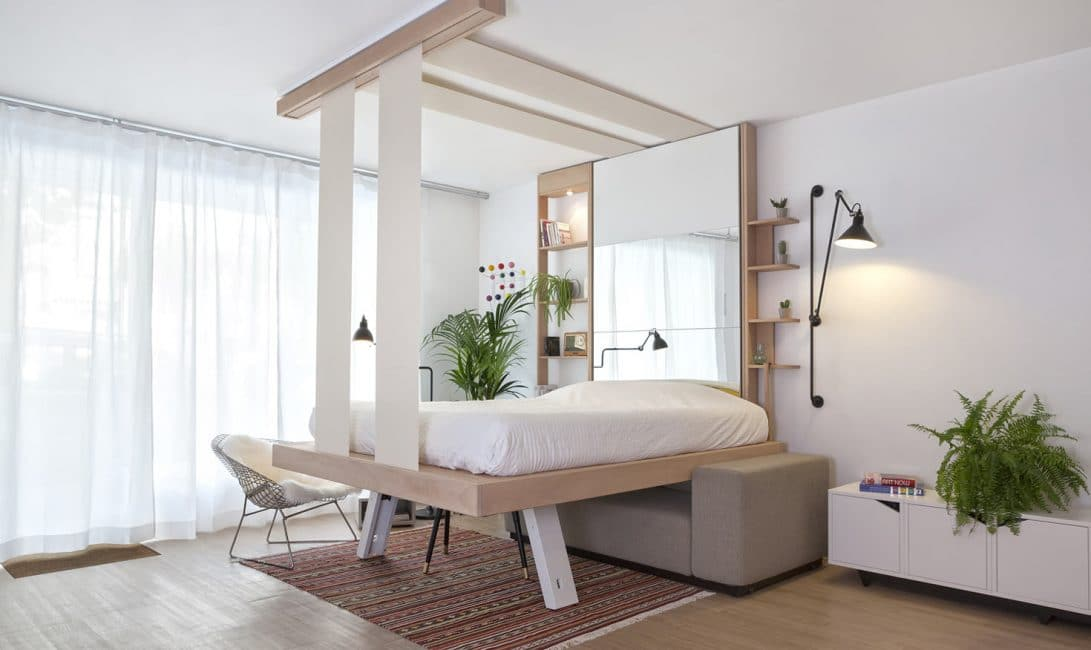 LIt au plafond Cocoon, par bed Up.