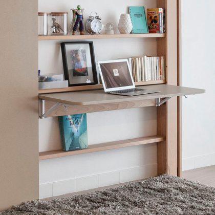 rangement pratique petits espaces gain de place lit escamotable plafond