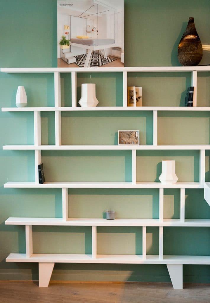 bibliothèque design étroite 15 cm