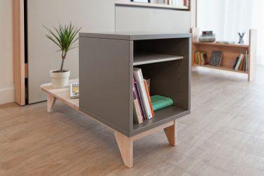 Cube03, meuble modulaire, plusieurs usages.