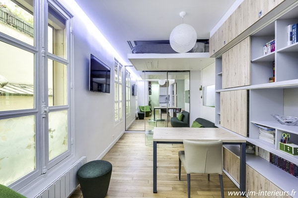bedup studio rangement pratique petits espaces gain de place lit escamotable plafond bedup