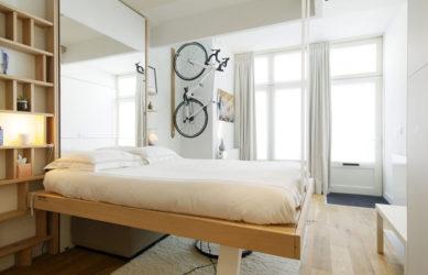 bedUp® Amsterdam rangement pratique petits espaces gain de place lit escamotable plafond bedup