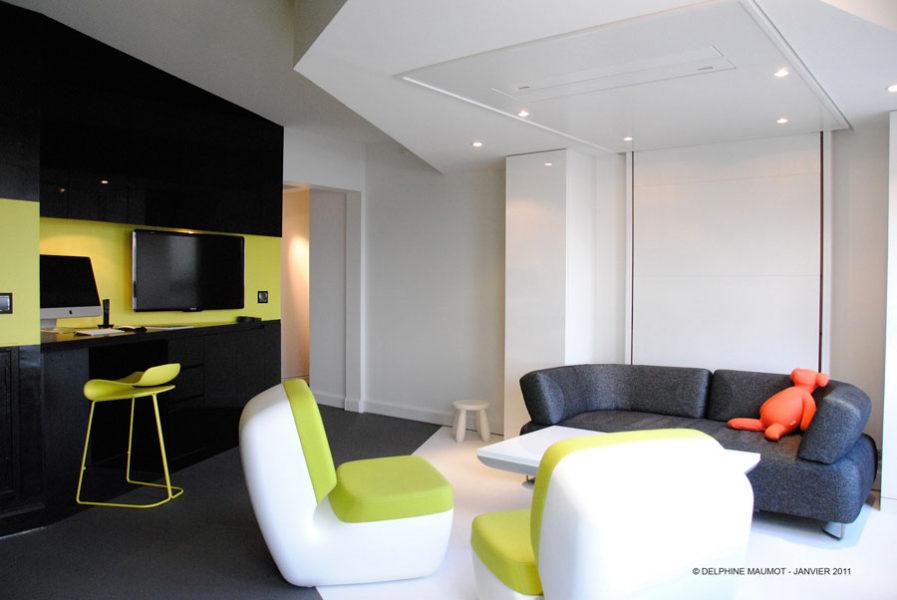 bedup ice cube - leblogdeco.fr rangement pratique petits espaces gain de place lit escamotable plafond bedup
