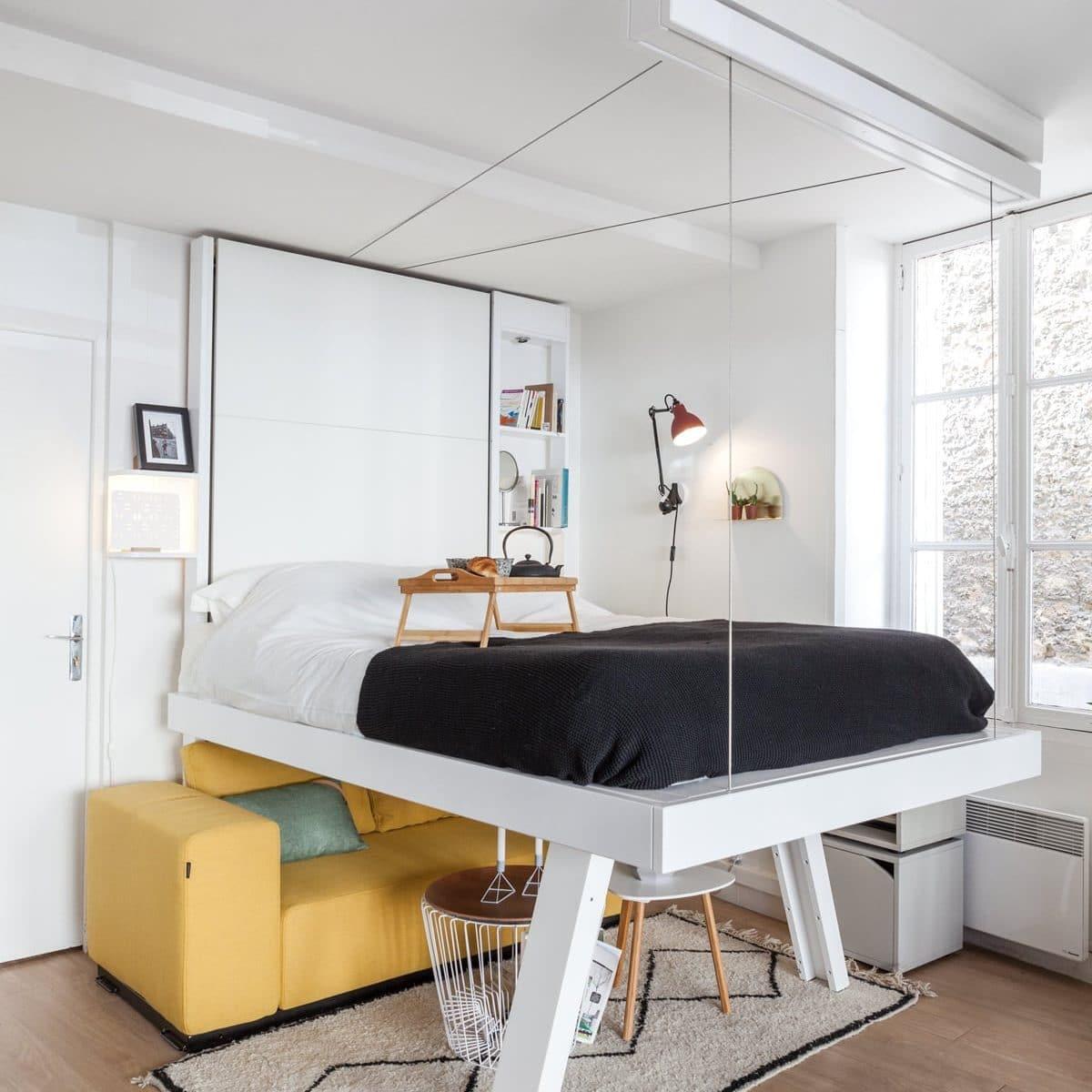 lit suspendu gagnez en m2 et en perspectives avec bedup. Black Bedroom Furniture Sets. Home Design Ideas