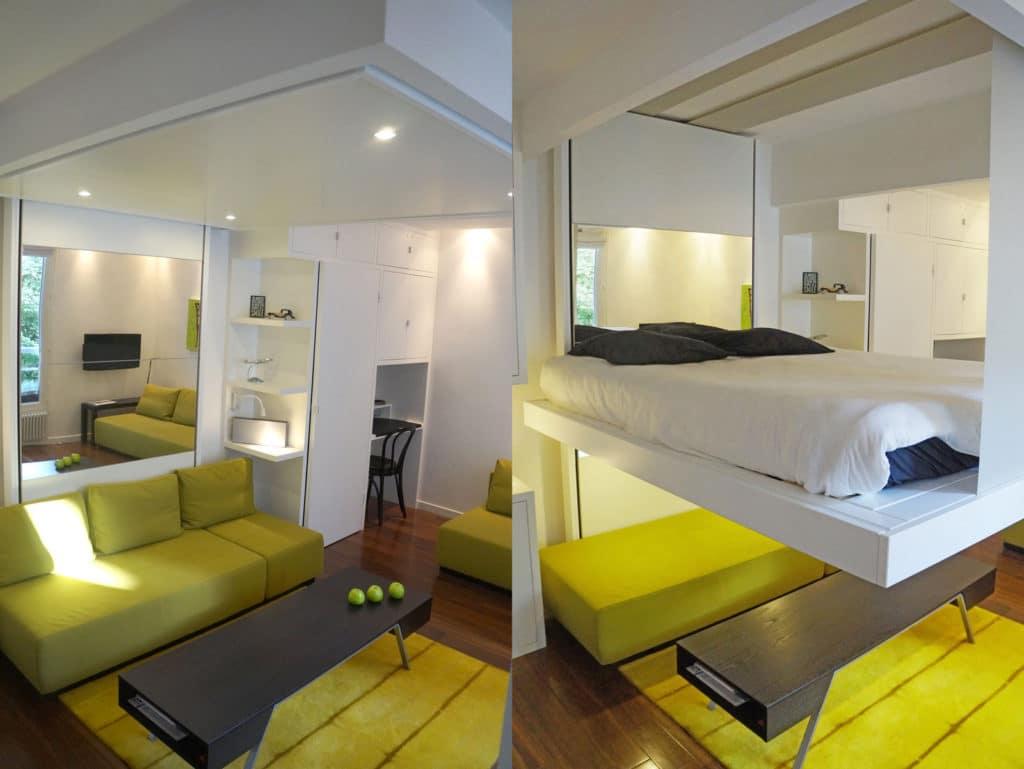 installation bedup appui table
