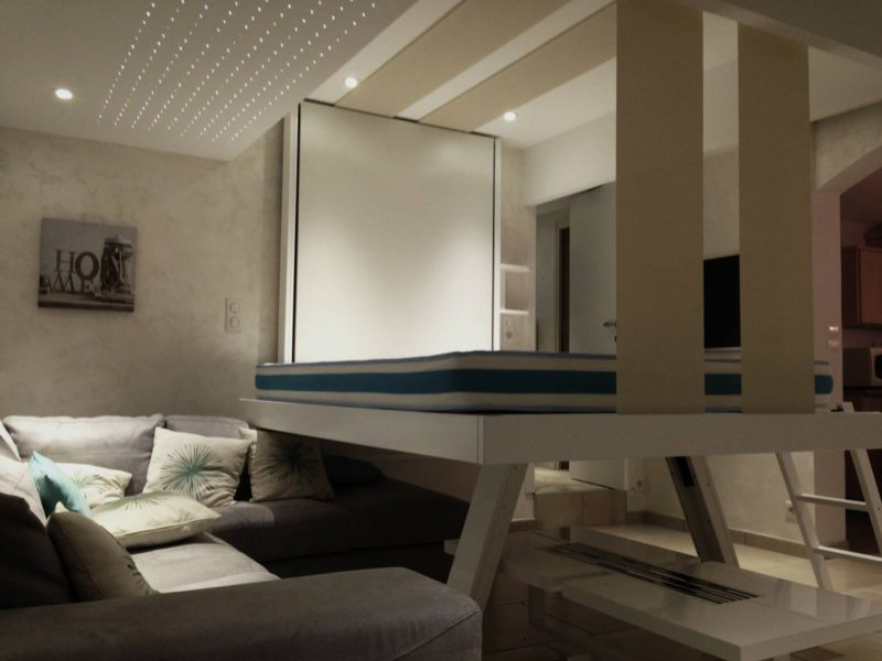 Lit au plafond bedUp Cocoon.