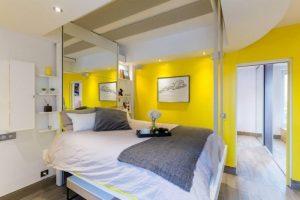 bedup Montreuil architecte lit escamotable plafond