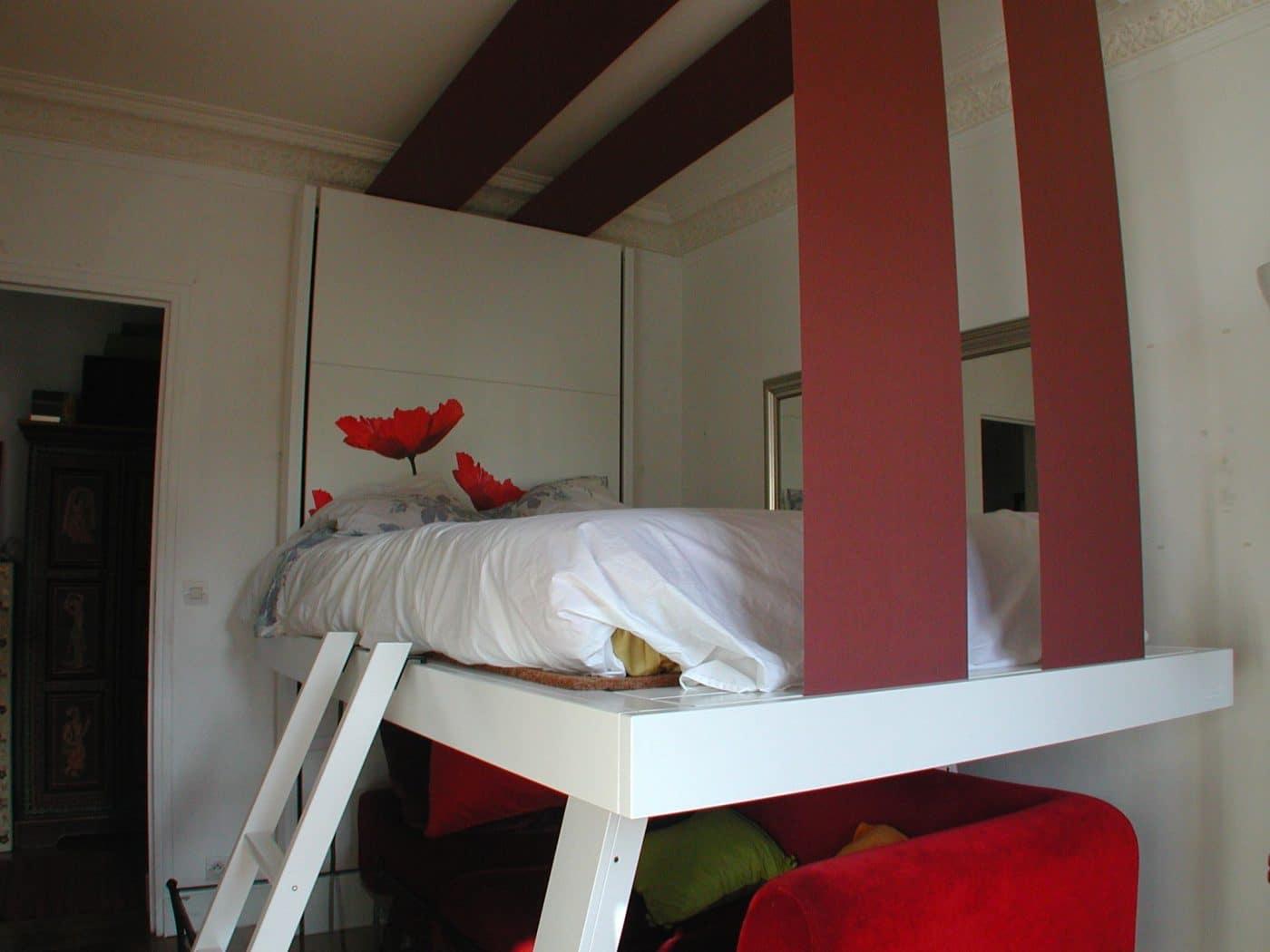 bedup lit escamotable plafond espace client