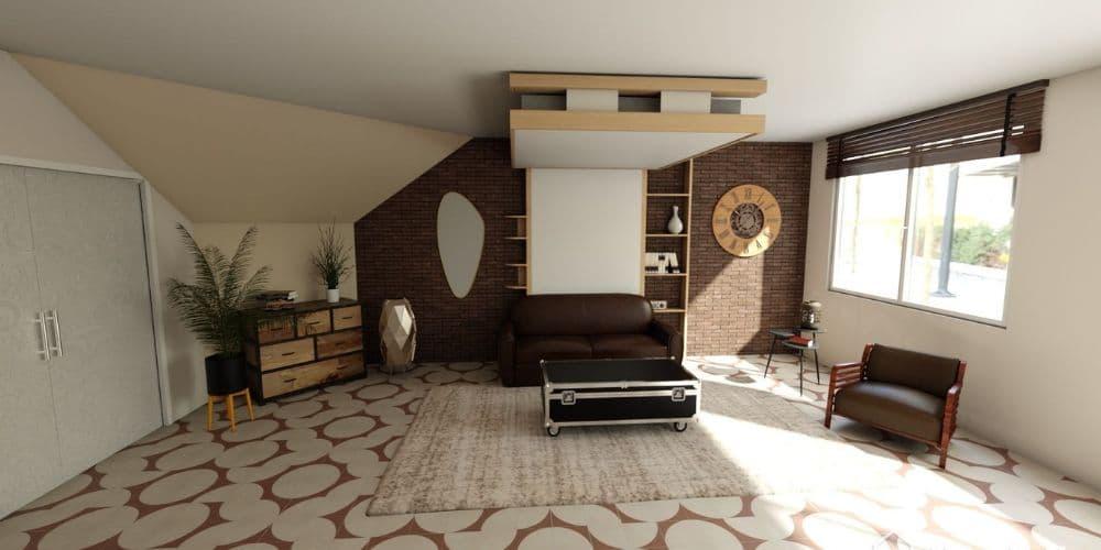 lit au plafond relooking appart