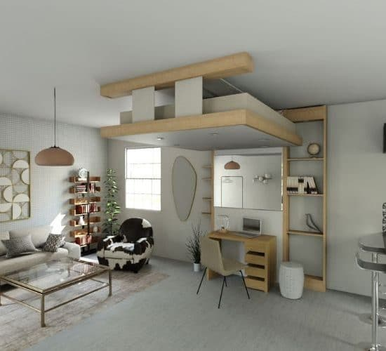 petits espaces lit gain de place lit qui se range lit caché lit au plafond