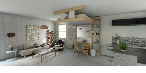 déco 2019 lit au plafond lit relevable bedup gain de place petits espaces