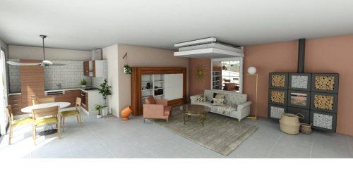 aménagement d'intérieur lit relevable électrique lit au plafond