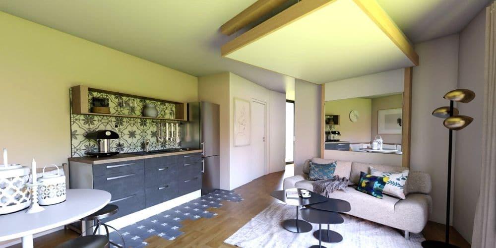 déco service déco archi conseil tendance 3d optimisation d'espace lit au plafond lit escamotable